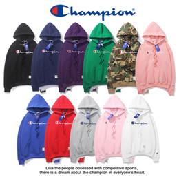 Boys pullover sweatshirts online shopping - champions hoodie men pullover sweatshirts spring winter hoodies champions letter printed hoodie camouflage green pullover sweatshirt