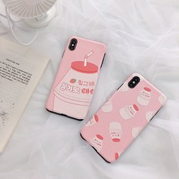 Painting Series Case Australia - Pink Series Strawberry Beverage Beauty Painting Anti-Scratching Apple Phone Shell Lovely mobile phone case, unique personality, attractive,
