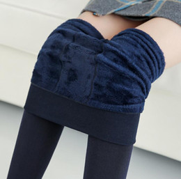 258742de6d358 Women's trousers plus velvet thickened pearl velvet leggings autumn and  winter new stepping feet to keep warm outside wearing one pants wome