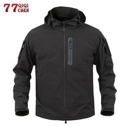 94c391e790c86 Winter Camouflage Clothing Hunting Australia - QIQICHEN Waterproof Soft  Shell Tactical Hunt Jacket Men Trench Coat