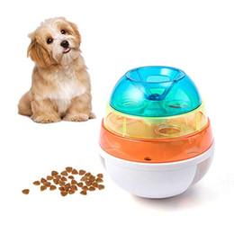 $enCountryForm.capitalKeyWord Australia - Pet Puzzle Fun Feeding Interesting Interactive Tumbler Three-Layer Tower Leaking Food Dispenser Meal Ball Resin Toy