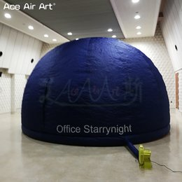 Wholesale doors movies online – design 6m diameter designed dark blue dome inflatable planetarium movie dome structure astronomy education with zipper door for school