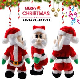 dance christmas ornament NZ - Electric Christmas Santa Claus Toy Shake Hips Dancing Music Gift for Children Kids LAD-sale