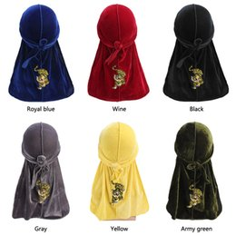 Doing hair online shopping - 2019 New tiger pattern embroidery Durag Turban headwrap doo do rag Bandanas Headwear Headband Hair Cover Accessories Waves Cap