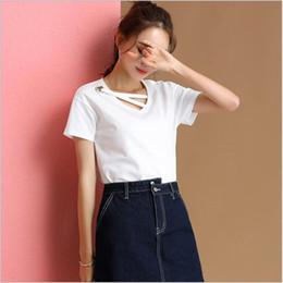 $enCountryForm.capitalKeyWord Australia - 2019 New High Quality V-Neck 9 Candy Color T-shirt Women Plain Simple T Shirt For Women Short Sleeve Female Tops