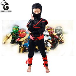 Christmas Clothes Australia - Boys Clothes Sets Legoo Ninjago Cosplay Costumes Children Clothing Set Halloween Christmas Party Clothes Ninja Superhero