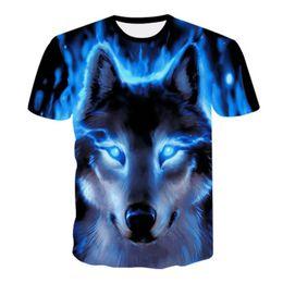 Cool Animal T Shirts UK - 2019 Newest Wolf 3D Print Animal Cool Funny T-Shirt Men Short Sleeve Summer Tops T Shirt Harajuku Male Fashion T-shirt Plus Size