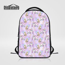 laptop bags for women Canada - Dispalang Women Laptop Backpack For Notebook 14 Cartoon Backpack For School Girls Women's Travel Bag Female Bookbag