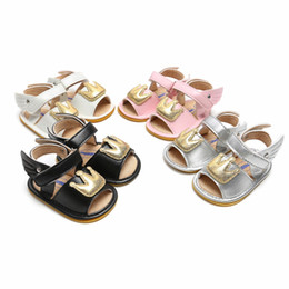 Cute Sandals For Baby Girls Australia - Baby Girls Sandals Newborn Baby Shoes PU Crown Wings Cute Girl Sandals Rubber Bottom Beach For Princess Shoes