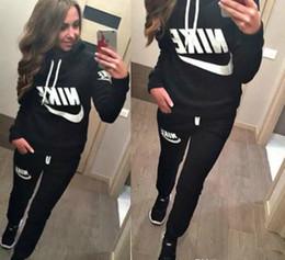 $enCountryForm.capitalKeyWord NZ - Hot Sale! New Women Active Set Tracksuits Hoodies Sweatshirt +pant Running Sport Track Suits 2 Pieces Jogging Sets Survetement Femme Clothes