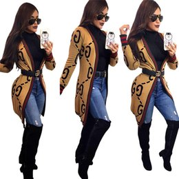 Wholesale trendy outerwear resale online – Women Designer Cardigan Long Jackets Fall Winter Casual Clothing Tops S XL Loose Outerwear Trendy Coat Long Sleeve Shirts HOT Selling