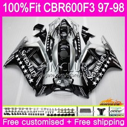 1998 cbr f3 fairings NZ - Injection For HONDA CBR600RR CBR600FS CBR 600 F3 97 98 Cool Sevenstars 78HM.18 CBR600 F3 FS CBR 600F3 CBR600F3 1997 1998 OEM 100%Fit Fairing