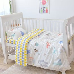 Discount baby girl crib bedding sets - New Arrive Baby Room Cotton Crib Bed Linen Kit Cotton Baby Bedding Set For Girl Boys Warm ,Duvet Sheet Pillow, with fill