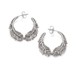 f7f4536d5 925 Sterling Silver Feather Earrings Ear Studs, European Fashion Earring  Jewelry Romantic Earings Earstuds Gift For Women Men C19041201
