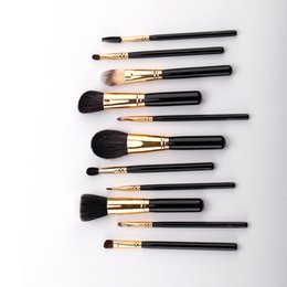 $enCountryForm.capitalKeyWord Australia - Makeup brush set wooden handle 11 blush eyeshadow animal hair portable multi-function beauty tools beginner suit