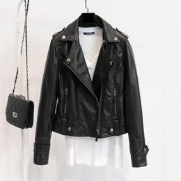 $enCountryForm.capitalKeyWord Australia - Fur Korean Spring And Autumn Versatile Small Jacket PU Leather Lapel Motorcycle Short Slim Lapel Motorcycle Jacket For Women