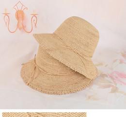 $enCountryForm.capitalKeyWord Australia - new natural raffia grass crochet woman summer hats brand design natural color free size free shipping adjustable