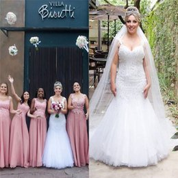 $enCountryForm.capitalKeyWord Australia - Mermaid Sleeveless Spaghetti Wedding Dresses With Appliques and Beads Tulle Train Custom Made Bridal Gowns Wedding Dress
