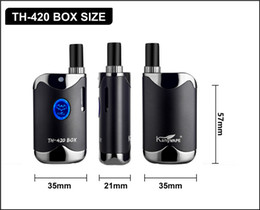 Box Brand Glasses NZ - glass cartridge 510 vaporizer box mod 650mah original brand new vape mod extract co2 oil smoking bud mod vape pen starter kit