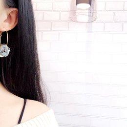South Korea Velvet Australia - Fashion Trend Noble South Korea East Gate New Autumn and Winter Velvet Rose Alloy Pendant Earrings Earrings