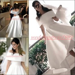 $enCountryForm.capitalKeyWord NZ - Charming Bateau Neck White 1950s Short Wedding Dresses High Low Beach Garden Country Style Plus Size Vestido de novia Formal Bridal Gown