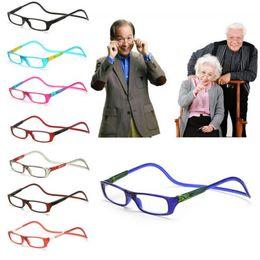 Venta al por mayor de Actualizado Unisex Imán Gafas de Lectura Imán Gafas de Lectura Cuello Colgante Ajustable Gafas de Presbicia Unisex Envío Gratis