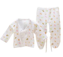Комплект детской одежды 0-1 лет Grils boys хлопок детская одежда Set Top + брюки Newborn детское белье комплект милый мультфильм новорожденных одежда 0-3M на Распродаже