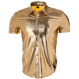 $enCountryForm.capitalKeyWord UK - Pop2019 Trade Men's Wear Night Shop Atmosphere Light Noodles Coating European Short Sleeve Lapel Shirt Second Ma Sun Pattern