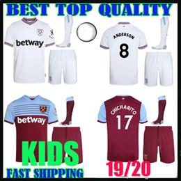 1e098c982e2 KIDS KIT 19 20 West Ham soccer jerseys United 2019 2020 home away WILSHERE  Anderson Chicharito LANZINI ARNAUTOVIC Diop CHILD football shirts