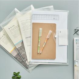 6e10d102b02 A4 Waterproof Folders NZ - Wholesale Office Filing supplies A4 size  Waterproof Plastic File Bag Button