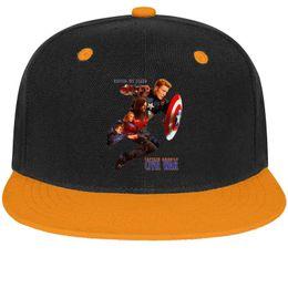 11b73a6f402a3c Captain America Civil War (Team Cap) Unisex Men Caps Womens Caps Casual  Cotton Snapback Flatbrim Outdoor Hat Baseball Cap for Women