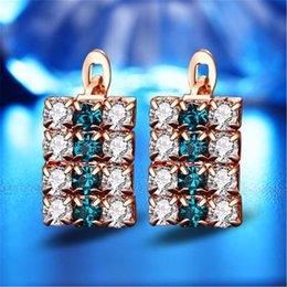 $enCountryForm.capitalKeyWord Australia - Fashion Gorgeous Crystal Rectangular Earrings Women Pendant Elegant Party Ear Drop Gifts for Girl Jewelry Accessories