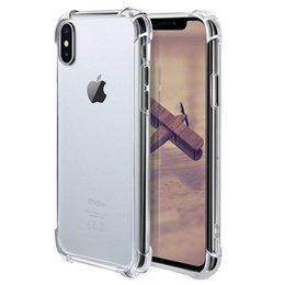 Опт Для iPhone X XS MAX XR 8 прозрачный корпус TPU амортизация мягкая прозрачная задняя крышка для Samsung S9 S10 Plus S10e