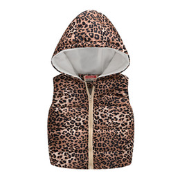 Kids leopard vest online shopping - Toddler Infant Sleeveless Tops Coat Girls Kids Baby Boys Leopard print Hooded Warm Waistcoat Tops Newborn Clothes Baby Cute