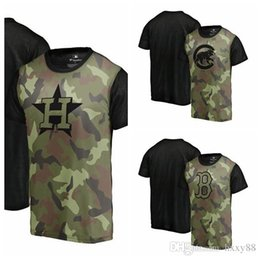 b8723c265 Fanatics Branded Chicago Cubs Boston Red Sox Houston Astros Green 2018  Memorial Day Camo Blast Sublimated T-Shirt