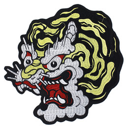 Dragon Patches Australia - 2pieces Dragon Embroidery Patches Iron on Jacket Back Badges for Backpack Embellishment Applique Sewing Accessories