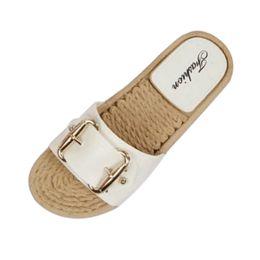 e024742d9b30 2019 New Summer Women Flip Flop Non-Slip Designer Summer Women Flop Non-Slip  Flat slipper Home Slippers Casual Straw Shoes  89