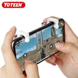 Yoteen PUBG Disparador de Telefone Móvel Joystick Física Botão de Fogo Aim Chave L1 R1 Gatilho 1 Par para Android iOS Jogo de Tiro em Promoção