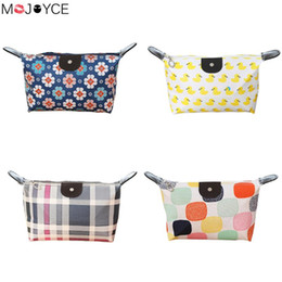 Travel Pillow Pattern Australia - Portable Waterproof Print PU Cosmetic Bag Travel Toiletry Wash Storage Bag Make up with beautiful multicolored patterns