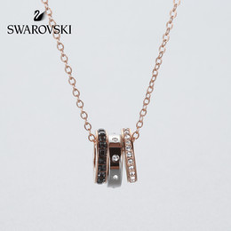 SwarovSki croSSeS online shopping - Swarovski HINT Necklace Simple and modern Stacked mix Clavicle chain
