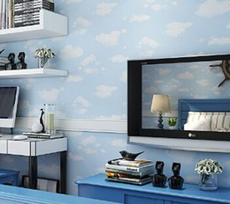 $enCountryForm.capitalKeyWord NZ - Blue Sky White Clouds 3D Photo Wallpaper Murals Children Room Bedroom DIY Wall Decoration PVC Self-adhesive Waterproof Wallpaper