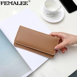 $enCountryForm.capitalKeyWord Australia - Women Cute Long Simple Fashion Luxury Hasp Wallet PU Leather Clutch Purse Solid Card Holder Female Cartera Lady Designer Purse