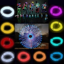 neon controller Australia - 3M Flexible Wire Tube Rope Battery Powered Flexible Neon Light Car Party Wedding Decor With Controller LED Light DropShipping