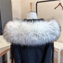 Wholesale raccoon fur collar for sale - Group buy 1PC Women s Winter Hot Fashion Faux Raccoon Fur Collar Scarf Multicolor Hooded Coat Fur Collar Decor Shawl Wrap Neck Warmer Y200104