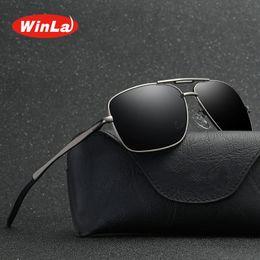 $enCountryForm.capitalKeyWord Australia - Winla Brand Design Classic Pilot Driving Polarized Sunglasses Men Eyewear Square Metal Frame Vintage Male Oculos UV400 WL8021