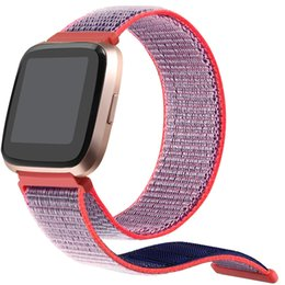 $enCountryForm.capitalKeyWord Canada - For Fitbit Versa Sport Woven Nylon Hook and Loop Bracelet Watch Strap Replacement Watch Band Adjustable 100pcs lot