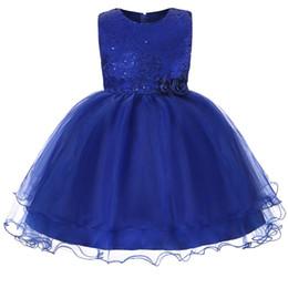 teens summer clothes 2019 - Girl Sequin Princess Party Dress Girls Floral Dress Summer Children Clothing Wedding Birthday Tutu 3-15Y teen girl cloth