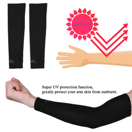 Discount golf sun sleeves - 1 Pair UV Protection Arm Sleeves Warmers Safety Sleeve Nylon Sun Sleeves Long Arm Cover Cooling Warmer for Running Golf