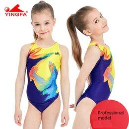3c1ac349459c7 Yingfa 2018 swimwear training swimsuit arena Girls swimsuits children  racing competition kids swimming suits professional hot