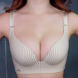 Wholesale sexy padded plus size bras resale online - Womens Push Up Bra Seamless Sexy Brassiere Super Wireless Ladies Lingerie Padded Plus Size Bralette Size A B C D Cup
